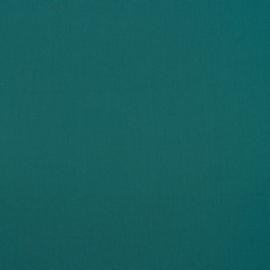 Katoen - Effen petrolblauw