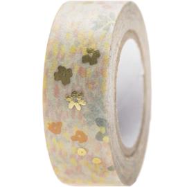 Washi tape weidebloemen goud
