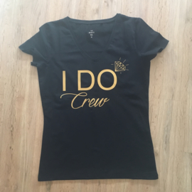 T-shirt voor het vrijgezellenteam: I DO crew