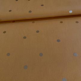 Confetti stippen mosterdgeel - goud
