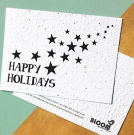 Bloeikaart BLOOM your message 'Happy holidays!'