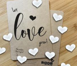Bloeikaart BLOOM your message 'Let love grow!'