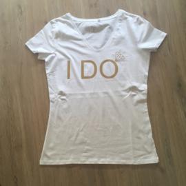 T-shirt voor de bruid: I DO