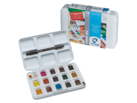 Aquarelverf pocketbox (15 kleuren)