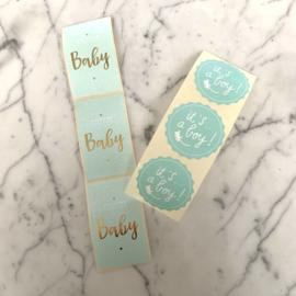 Set van 6 stickers 'baby mint'