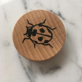 Houten magneet Lieveheersbeestje