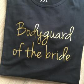 T-shirt voor het vrijgezellenteam: Bodyguard of the bride