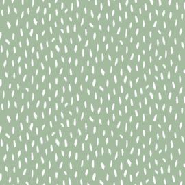 Katoen - Poppy - Vlekjes licht muntgroen