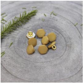 Zeshoekige knoopjes Atelier Brunette - Oker