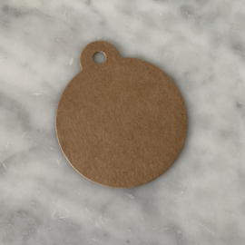 Kraft label rond - medium