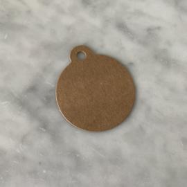 Kraft label rond - klein