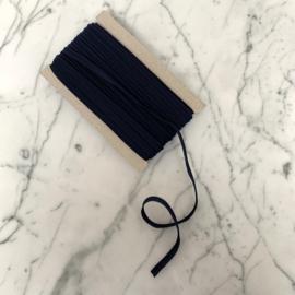 Paspel katoen 3mm dik - Marineblauw