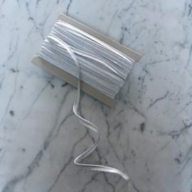 Paspel lurex 3mm dik - Zilver metallic