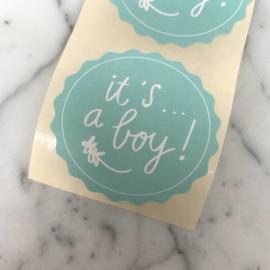 10 stickers 'It's a boy!'