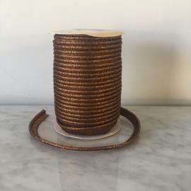 Paspel lurex 3mm dik - Koper metallic