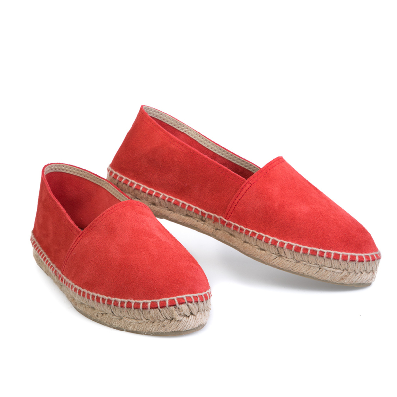 Classic suède espadrilles Coral Red