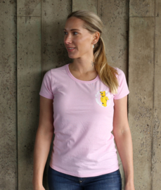 Pink T-shirt WANNA PLAY Round Logo