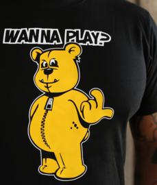 Black T-shirt WANNA PLAY