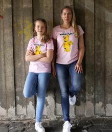 Pink T-shirt WANNA PLAY