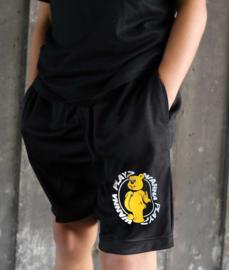 Kids Shorts Black WANNA PLAY Round Logo