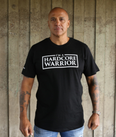 Black T-shirt I'M A HARDCORE WARRIOR