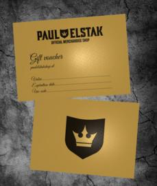 Gift Voucher Paul Elstak Shop