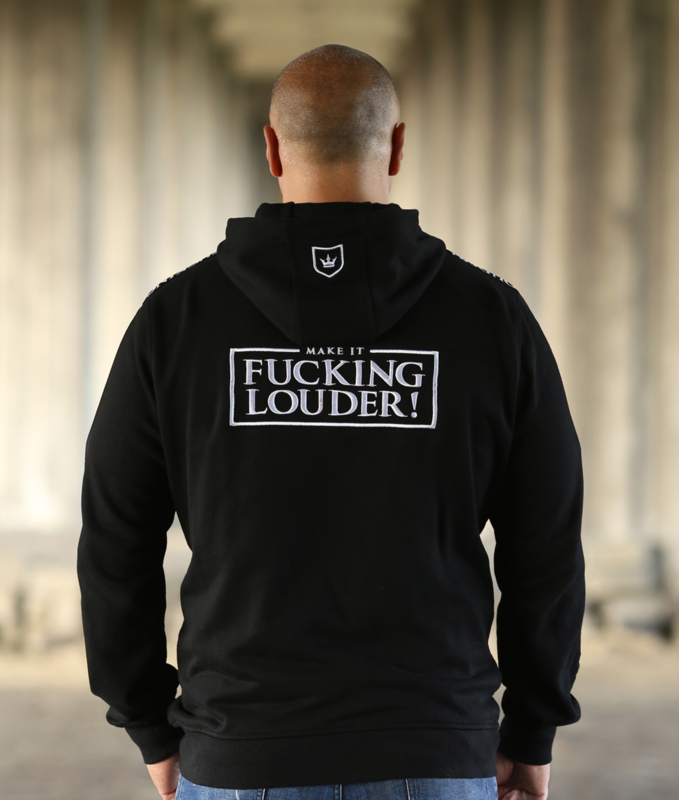 Zipped Tape Hoodie MAKE IT FUCKING LOUDER - LIMITED