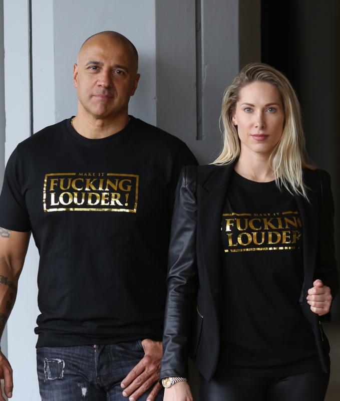 T-shirt MAKE IT FUCKING LOUDER Gold - LIMITED