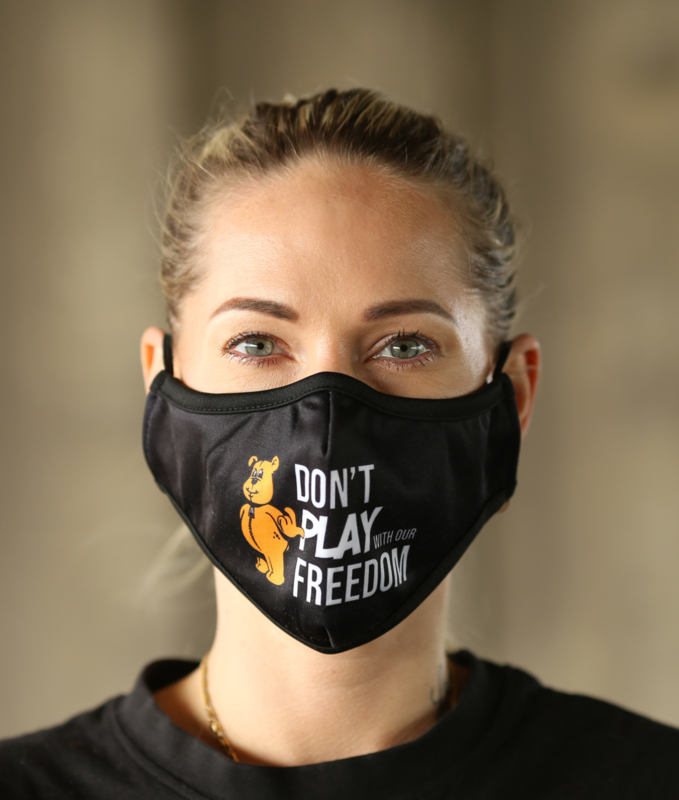 Face Mask DON'T PLAY WITH OUR FREEDOM