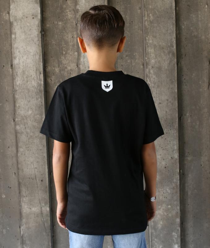 Kids T-shirt Black WANNA PLAY Round Logo