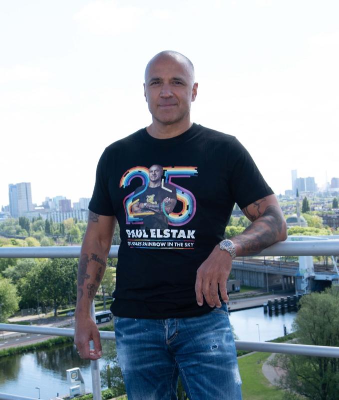 T-shirt  PAUL ELSTAK 25 YEARS RAINBOW IN THE SKY