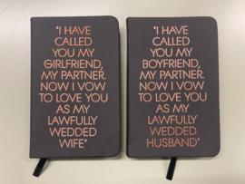 Gelofte boekjes met quote Husband/Wife