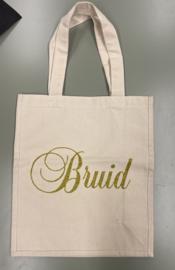 Canvastas met Bruid glittergoud Sale