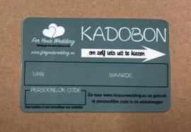 Kadobon met Waarde in €