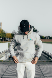 """Lovers"" Hoodie in Grey"