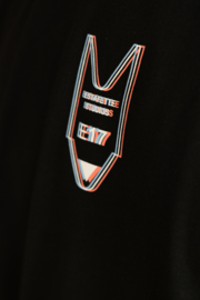 Oversized Misprint Tee in Black