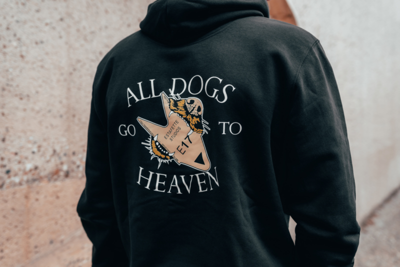 All Dogs Hoodie in Black