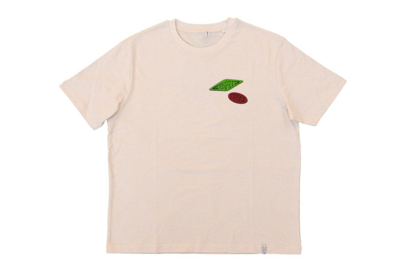 Relaxed Fit Winegum Tee in Natural White