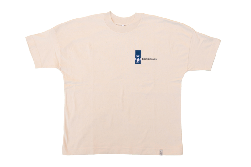 Oversized Crown Tee in Natural White