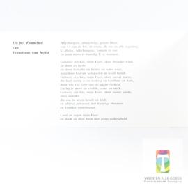 Kaart 2, met tekst uit het Zonnelied
