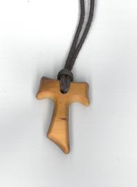 Tau-kruisje klein 1,8 x 2,5  cm.