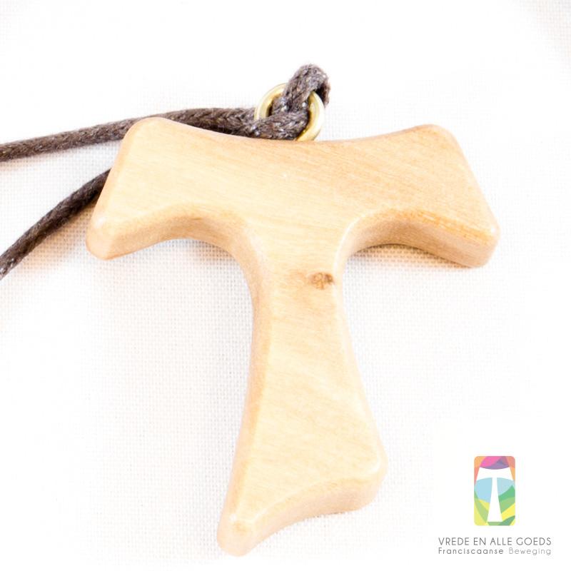 Tau-kruisje middel 3 cm