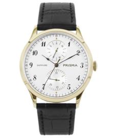 Prisma Heren horloge Traveller vigorous Goud/wit P.1901