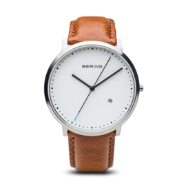 Bering horloge classic brushed wit zilver 11139-504