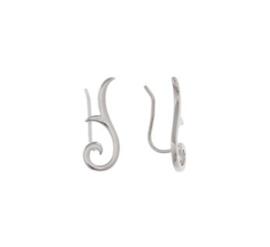 Gerhodineerd zilveren oorschuif tribal