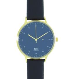 Tyno classic Goud blauw 201-009 zwart