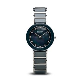 Bering horloge ceramic Blauw zilver 11429-787