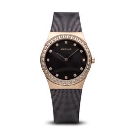 Bering horloge classic brushed Rosé goud bruin 12430-262