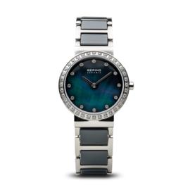 Bering horloge ceramic Blauw zilver 10729-707