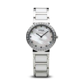 Bering horloge ceramic Wit Zilver 10729-704